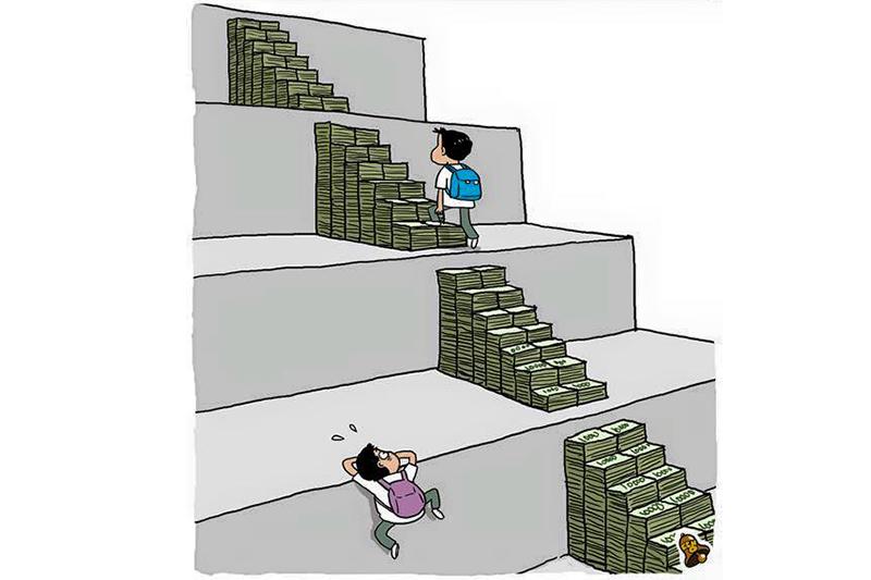 考試制度真的是公平的?(圖/取自Richard Scotford臉書)