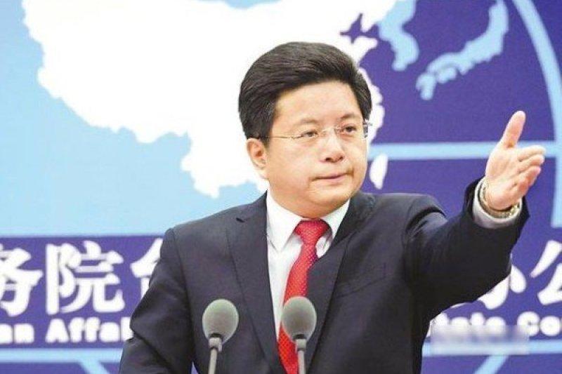 中國國台辦發言人馬曉光。(取自推特)