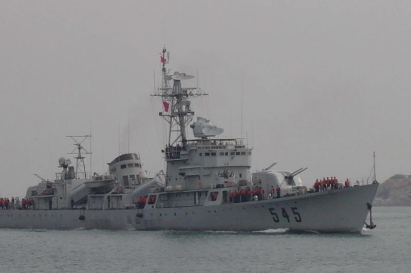 臨汾號(舷號545)護衛艦。