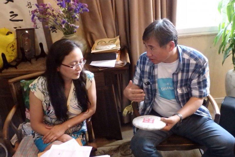 勐海茶廠五朵金花美譽之一的阮殿蓉(圖/作者提供)