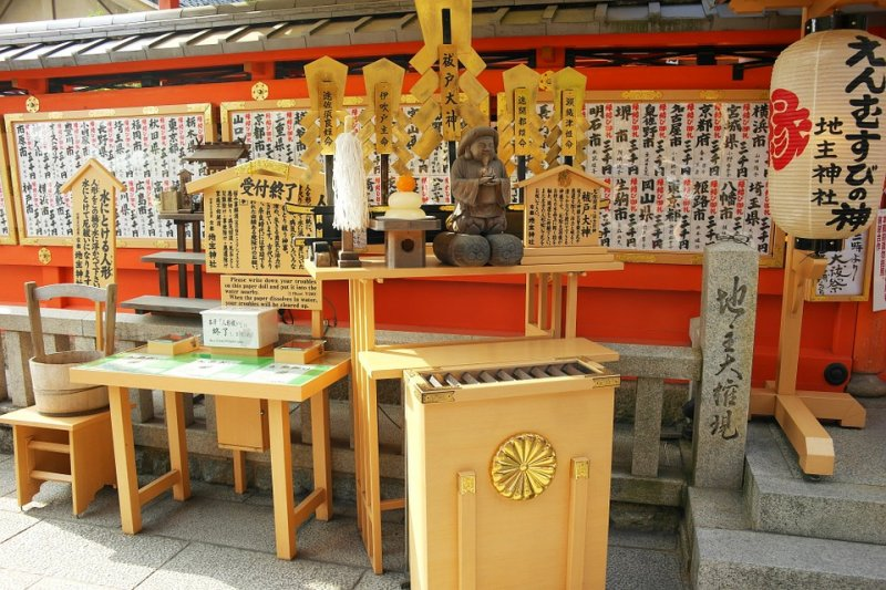 大阪靖國神社照,中間有隔板的箱子就是「賽錢箱」。(圖/Richgold@pixabay)