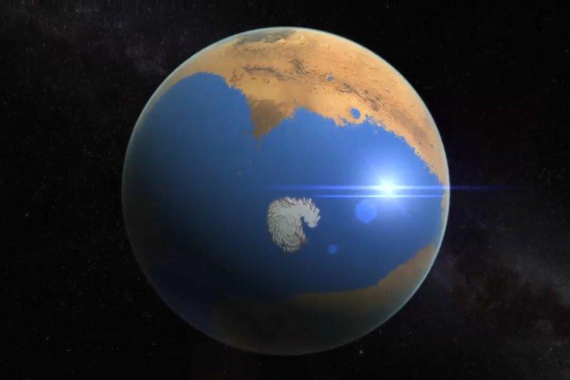 火星,也曾經擁有汪洋大海?(取自網路)