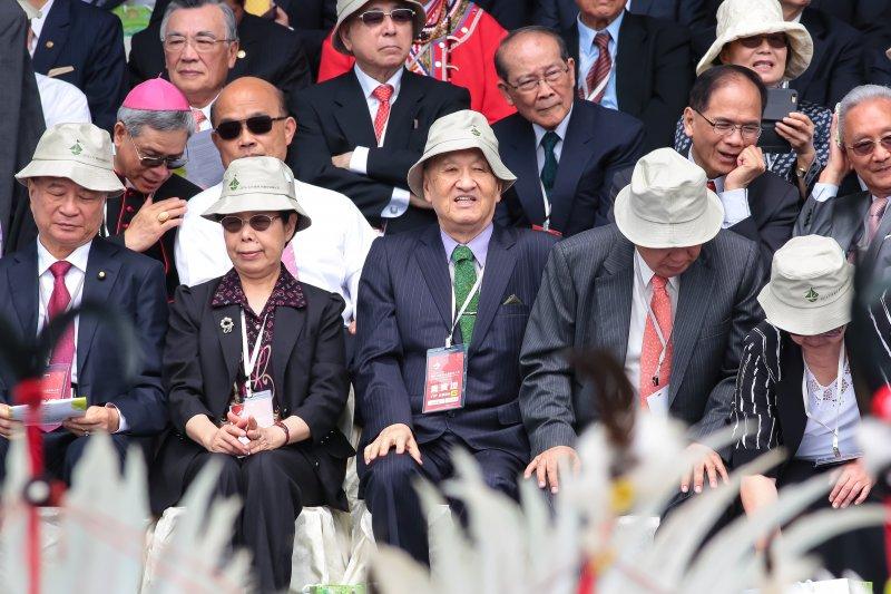 台獨大老彭明敏出席第十四任總統、副總統就職慶祝大會。(顏麟宇攝)