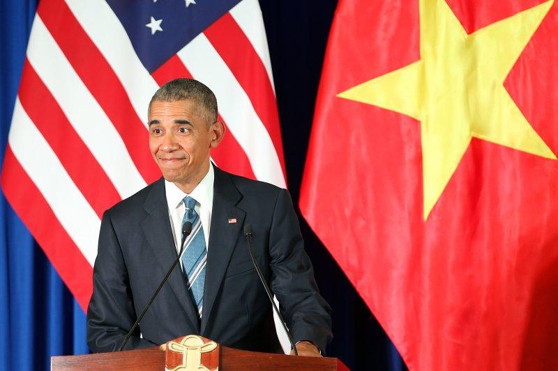 美國總統歐巴馬23日訪問越南。(美聯社)