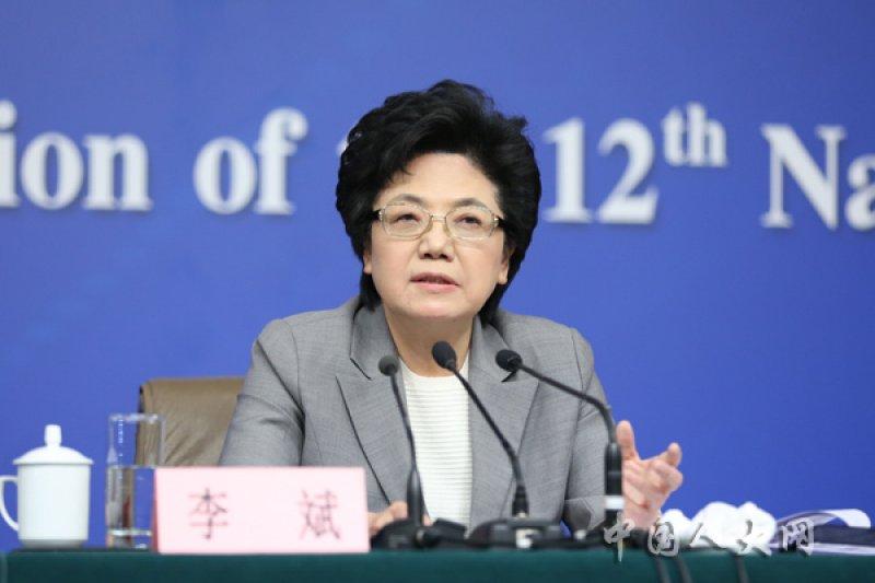 中國大陸國家衛生和計劃生育委員會主任李斌。(取自中國人大網)