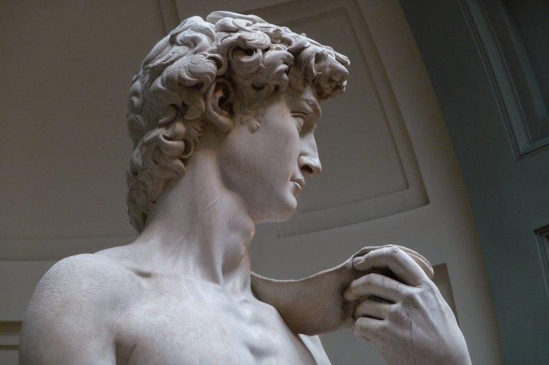 米開朗基羅《大衛像》。(圖/Wikimedia)