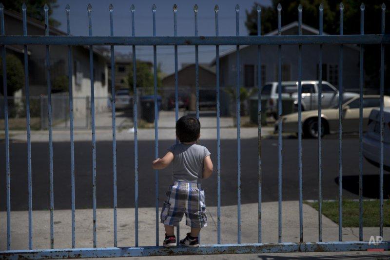 可能遭到美國遣返的墨西哥1歲孩童約書亞(Joshua Tinoco)。(美聯社)