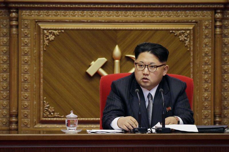 北韓領導人金正恩9日出席黨代表大會。(美聯社)