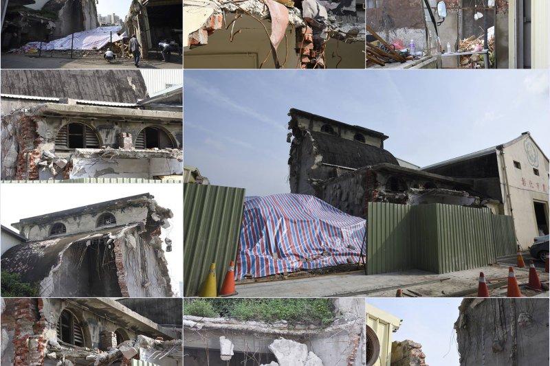 彰化農業倉庫拆除慘況(圖片取自: 搶救百年彰化農業倉庫聯盟臉書)
