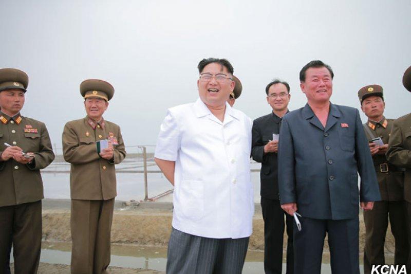 北韓最高領導人金正恩的阿姨高英淑日前接受專訪,揭露金正恩的童年生活。(翻攝朝中社)