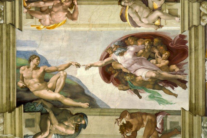 梵蒂岡西斯汀禮拜堂的創世紀壁畫(維基百科)