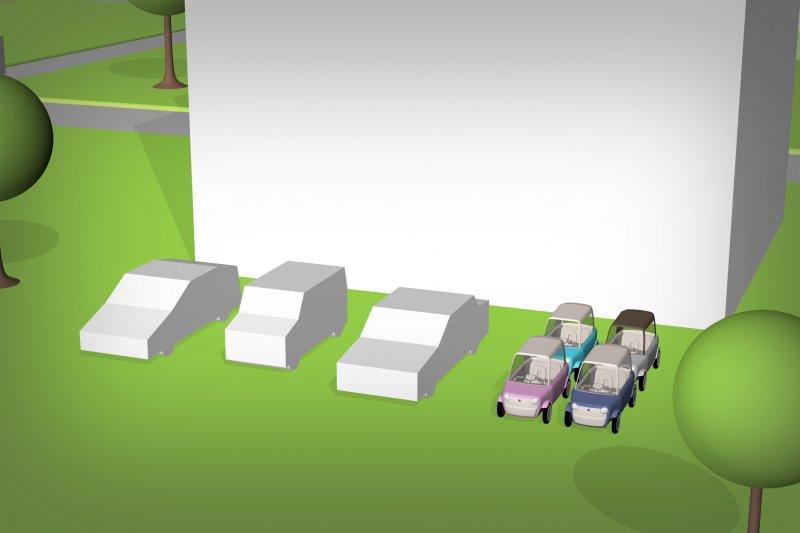 停車空間只需要一般車輛的4分之1。(圖/rimOnO)