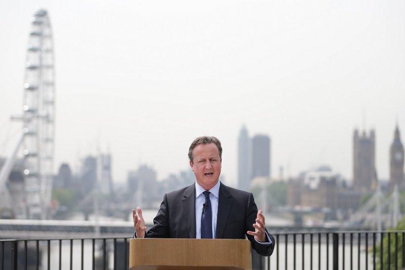 英國首相卡麥隆(美聯社)