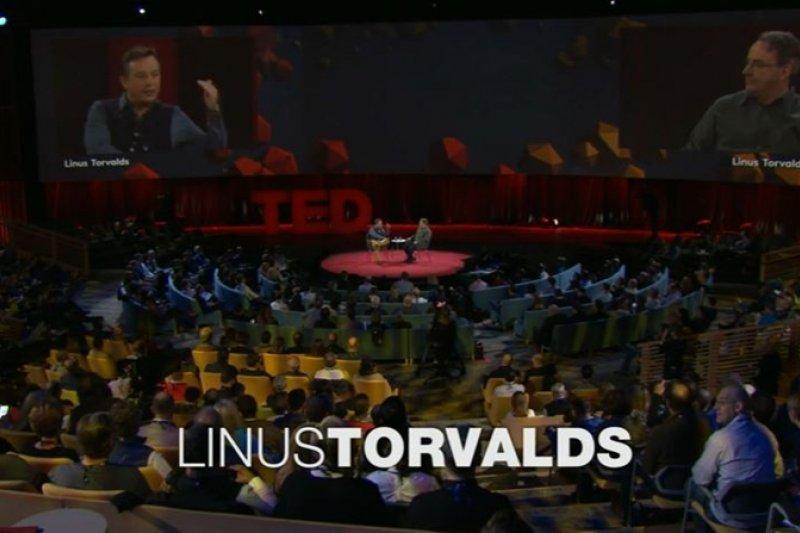 Linus Torvalds是改變了電腦歷史兩次的人物,Linux和Git都是他所發明的。(圖/截自TED影片)
