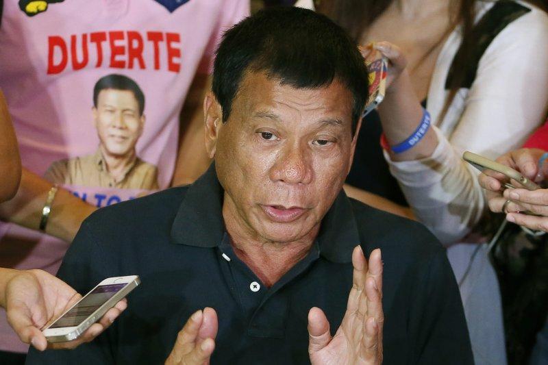 菲律賓總統當選人杜特蒂(Rodrigo Duterte)(美聯社)