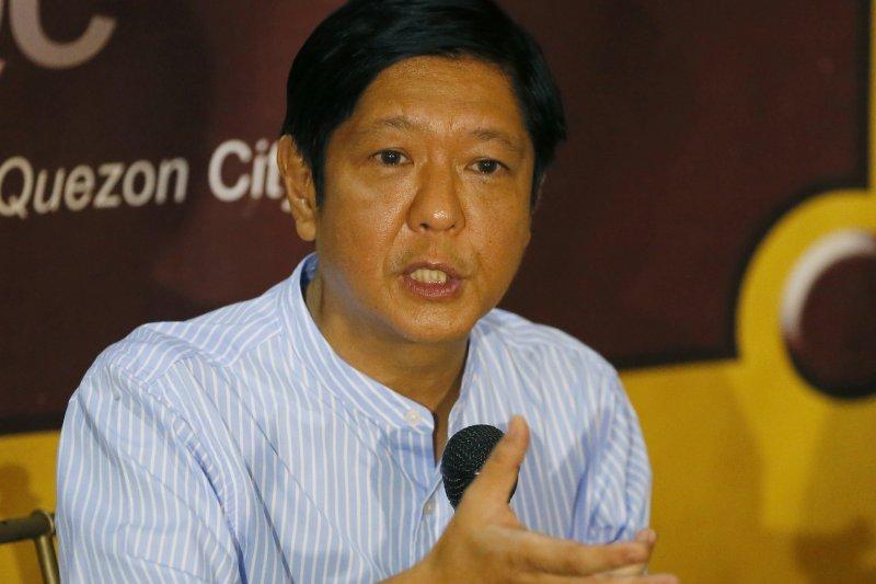"""競選菲律賓副總統失利的小馬可仕(Ferdinand """"Bongbong"""" Marcos Jr.)(美聯社)"""