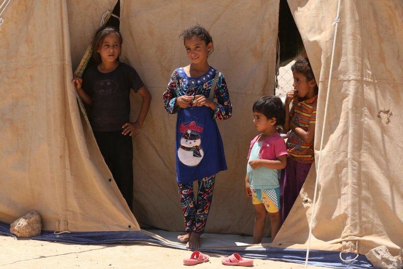 伊拉克戰區的難民(美聯社)
