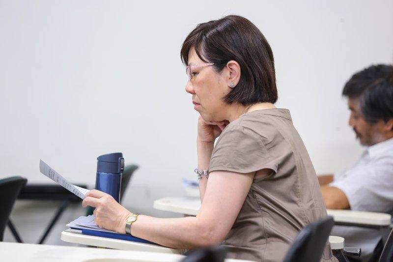 李安妮18日出席年金改革的社會對話系列座談。(顏麟宇攝)