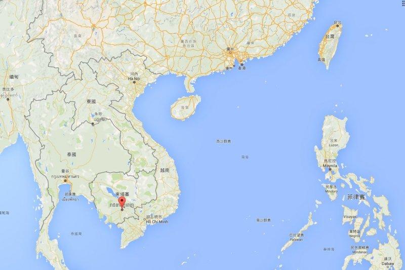 2016-06-19-柬埔寨金邊-取自google map
