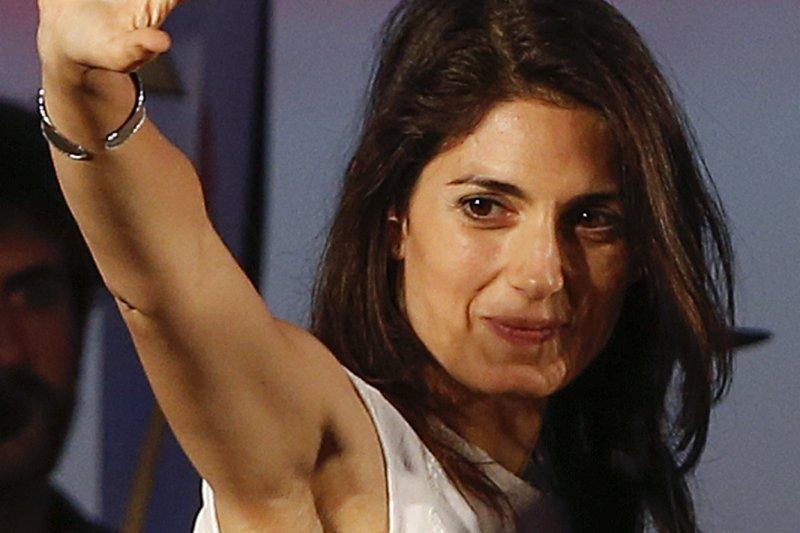 義大利首都羅馬市長選舉,「五星運動」候選人拉吉(Virginia Raggi)(美聯社)