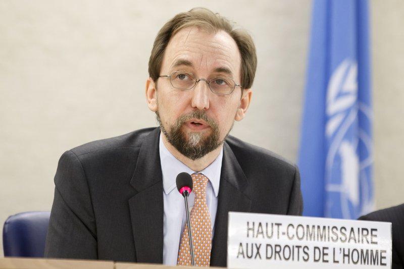 聯合國人權高級專員胡賽因(Zeid Ra'ad Al Hussein)。(美聯社)