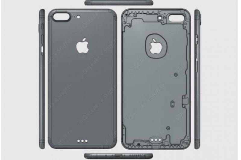 最新的iPhone7的機殼設計圖流出,讓果粉們迫不及待。(圖/stuff.tv和@Onleaks on Twitter)