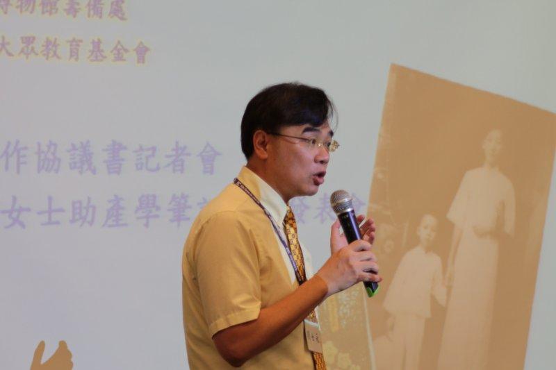 中研院台史所副所長劉士永教授講述助產士凱起台灣女性現代自覺(文化部提供)
