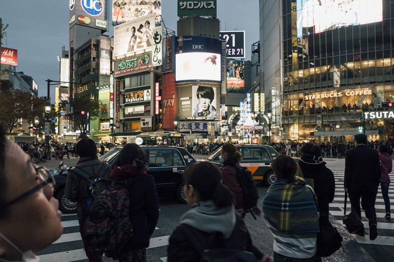 夜行巴士連接日本多個城市。 攝:Anthony Kwan/端傳媒