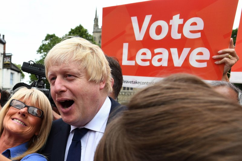 前倫敦市長強森力挺英國脫歐。(美聯社)