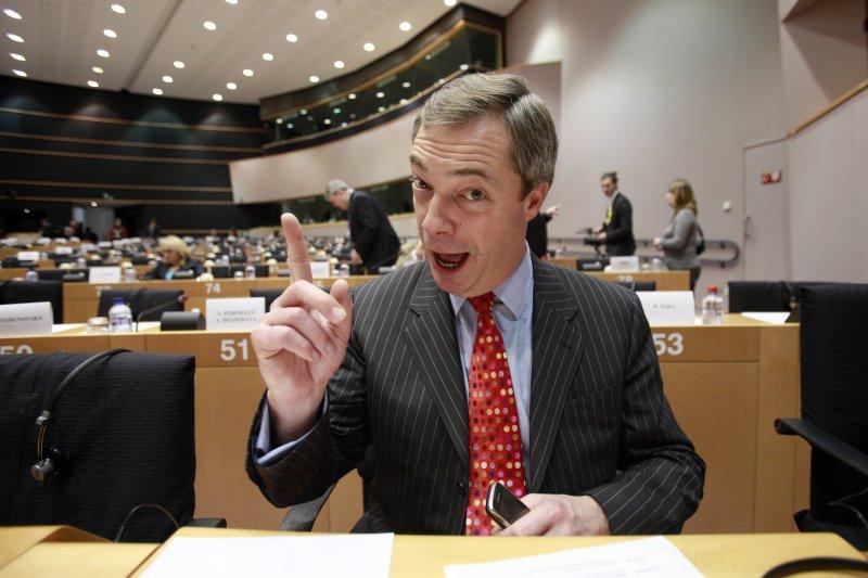英國脫歐陣營領導人、英國獨立黨(UKIP)黨魁法拉吉(Nigel Farage)(美聯社)