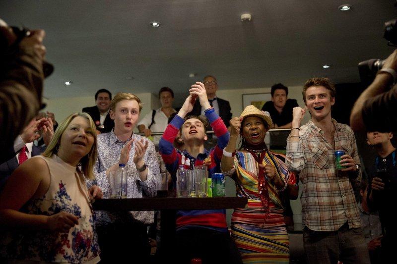 英國脫歐陣營的支持者歡天喜地。(美聯社)