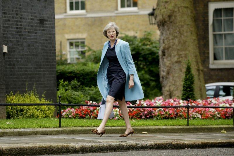 英國內政大臣梅伊(Theresa May)(美聯社)