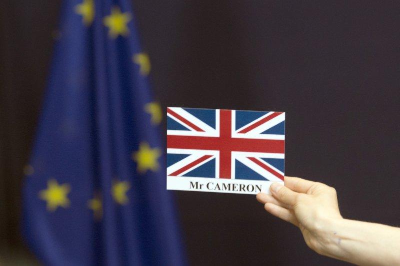 英國首相卡麥隆在英國脫歐後到歐盟報告公投結果。(美聯社)