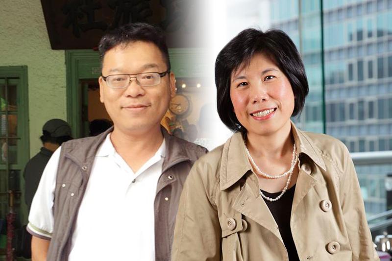 台北市文化基金會改變既有制度,就連坐擁高薪的副執行長位子,也由1位變為2位,由張益贍(左)、楊淑鈴(右)擔任。(取自張益贍、楊淑鈴臉書)