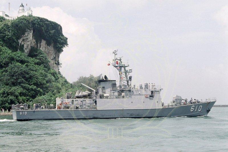 金江軍艦1日預劃實施甲類操演驗收時,在8時15分實施雄三飛彈系統檢查測試時發生誤射,造成誤擊漁船事件。(取自中華民國海軍網站)
