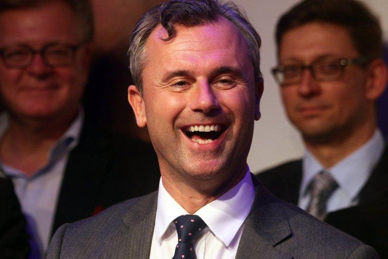 奧地利極右派「奧地利自由黨」總統候選人霍費爾(Norbert Hofer)(美聯社)