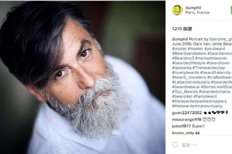 菲力普杜馬的Instagram帳號擁有高達2萬7800多名粉絲。(圖取自Instagram)