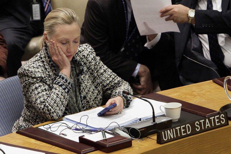 美國民主黨準總統候選人希拉蕊.柯林頓,攝於2012年任職國務卿時期(美聯社)
