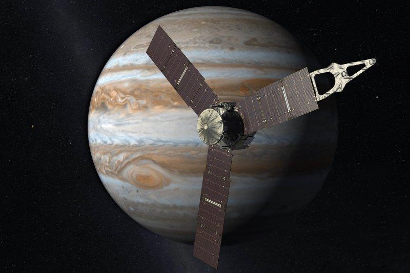 NASA木星探測器「朱諾號」(Juno)。(美聯社)