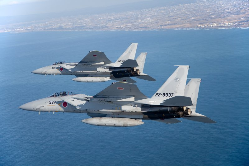 日本航空自衛隊的F-15戰機。(航空自衛隊官網)