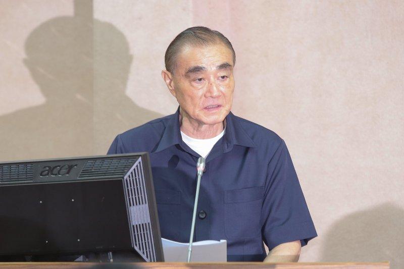 國防部長馮世寬7日於國防委員會備詢。(顏麟宇攝)