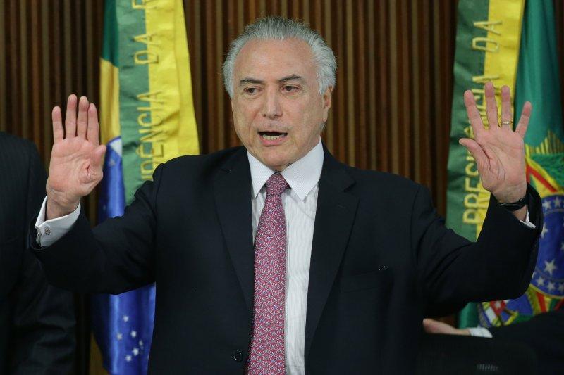 巴西代總統特梅爾(Michel Temer)向全世界發出邀請函,表示里約奧運將絕對安全(美聯社)