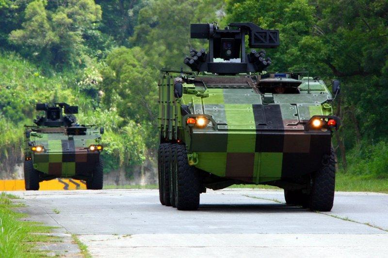 陸軍雲豹裝甲車原型的CSMS鋼板由中鋼製造。(國防部發言人臉書)