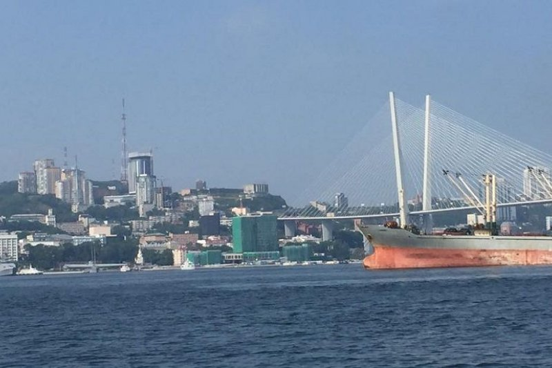 海參崴港口一景。(陳耀昌攝)