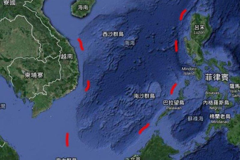南海爭議,九段線。(製圖:風傳媒)