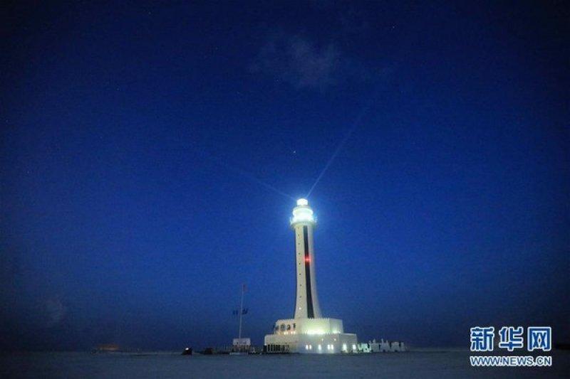 中國在南海建成5座燈塔,4座已啟用,圖為已啟用的渚碧燈塔。