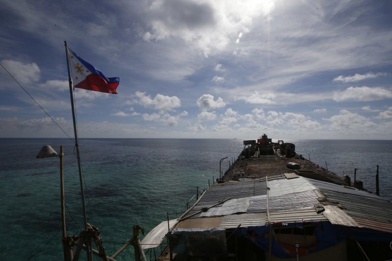南海仲裁案「菲律賓訴中國仲裁案」爭執焦點之一:仁愛礁(美聯社)