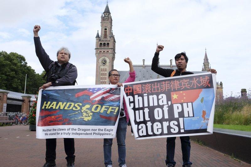 位於荷蘭海牙的常設仲裁法院12日對「菲律賓訴中國仲裁案」(南海仲裁案)作出裁決,中國大敗虧輸。(美聯社)
