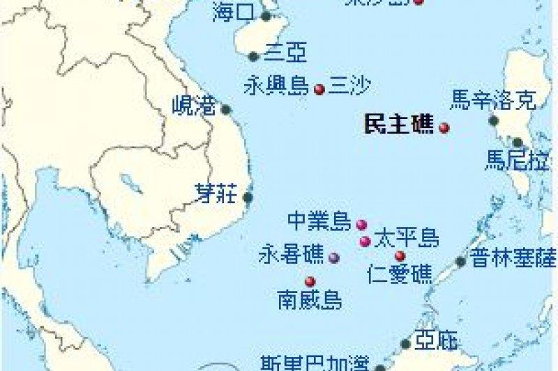 民主礁地理位置。(擷取自維基)