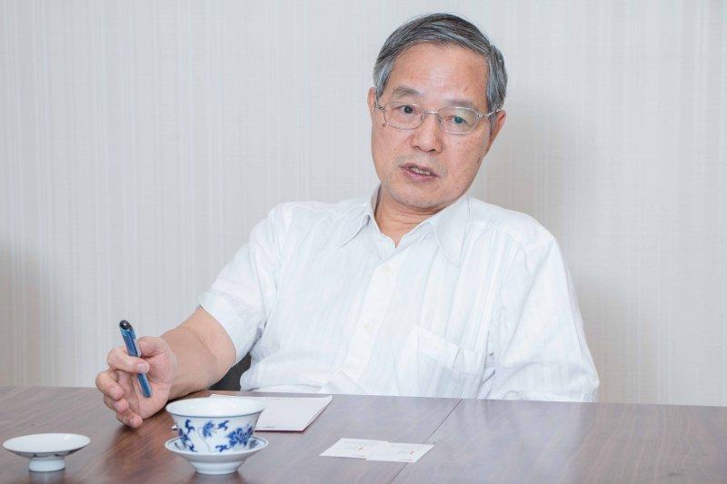 專訪國發會主委陳添枝。(李振均攝)